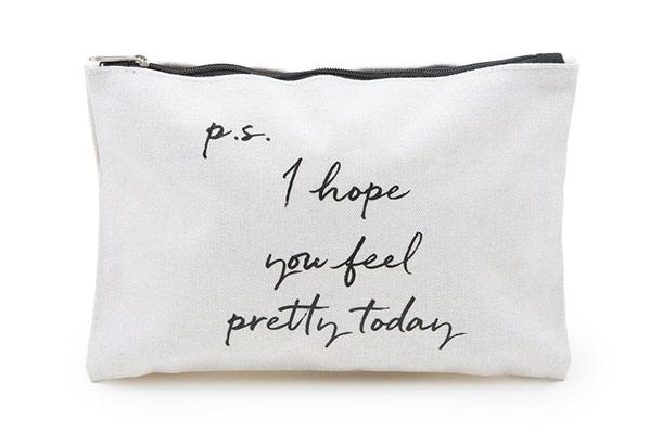 prettique Beauty Bag small Quote-Print