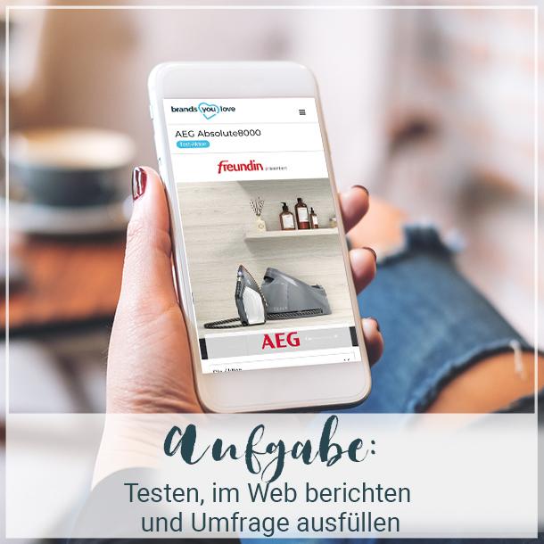 Aufgaben der Tester AEG Absolute8000