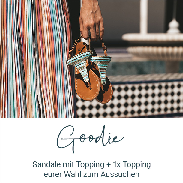 Goodie Hey Marly Sandalen und Toppings