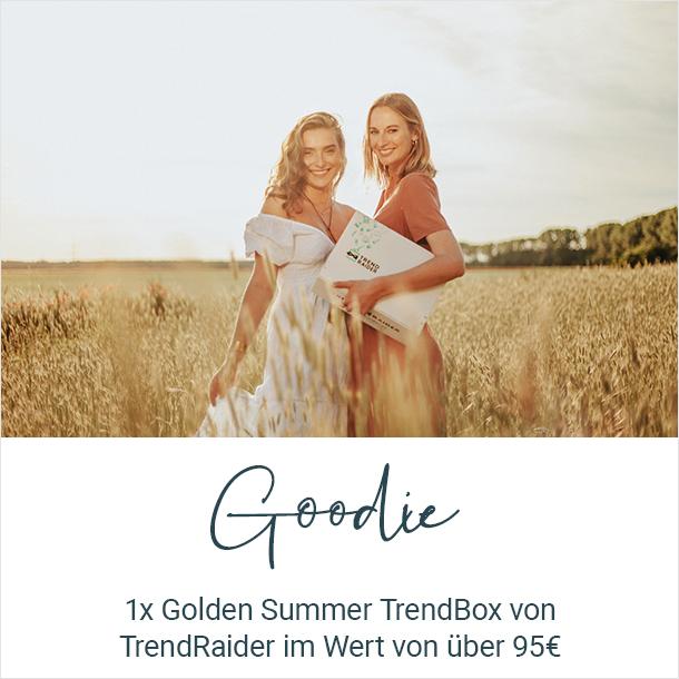 Goodie: eine TrendBox von TrendRaider im Wert von über 95€