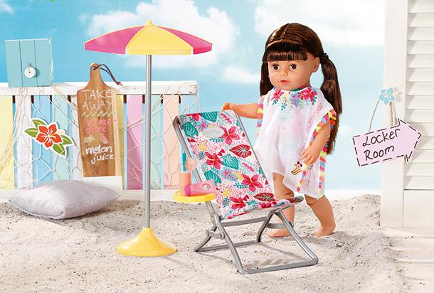 BABY born® Holiday Liegestuhl Set