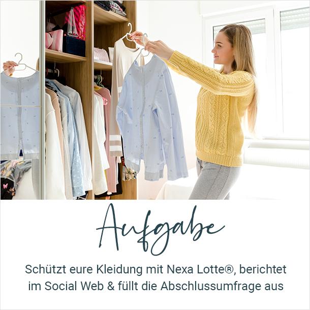 Aufgabe: Kleidung schützen, im Web berichten, Abschlussumfrage ausfuellen