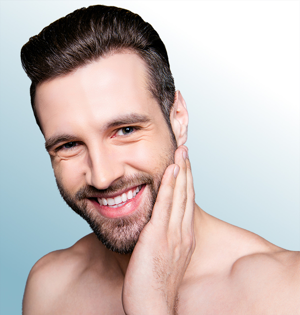 Mann Hautpflege