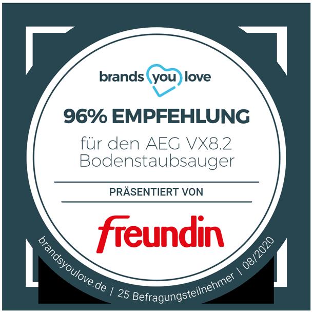 brands you love Siegel AEG VX8.2