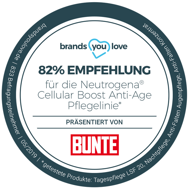 brands you love-Siegel für Neutrogena Cellular Boost