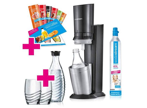 Gewinn: ein SodaStream Crystal 2.0 Wassersprudler-Set Promopack