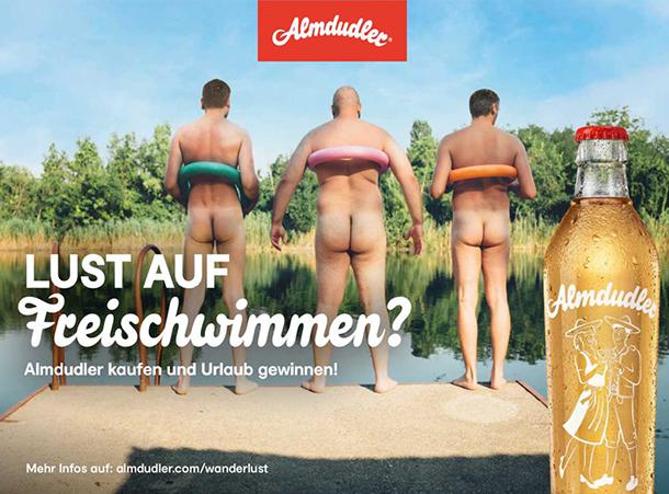 """""""LUST AUF Freischwimmen?"""" von Almdudler"""