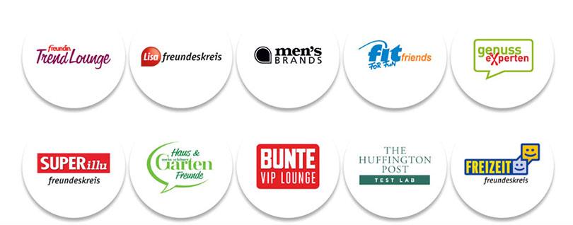 freundin Trend Lounge, Lisa freundeskreis, men's brands, fit for fun friends, genuss experten, SUPERillu freundeskreis, Haus & Garten Freunde, BUNTE VIP LOUNGE, Freizeit freundeskreis