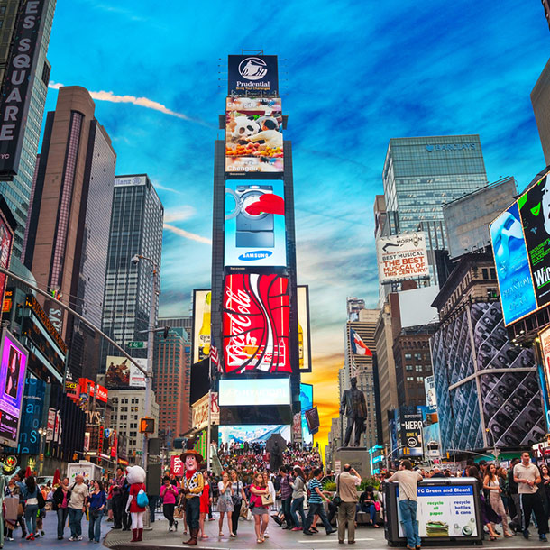 Times Square New York mit Werbung