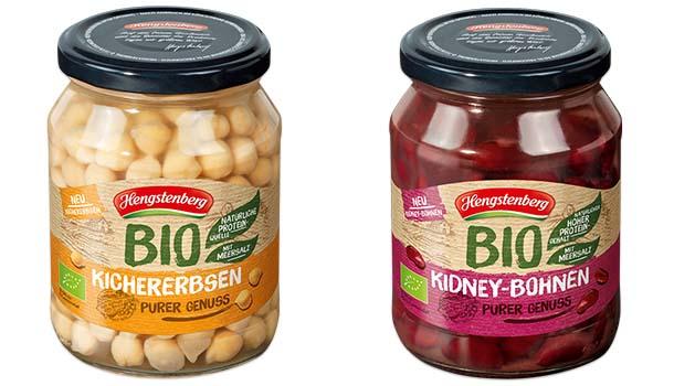 Bio Kichererbsen und Bio Kidney-Bohnen