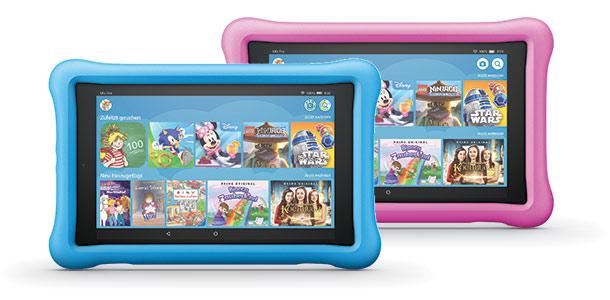 Fire HD 8 Kids Edition-Tablet mit blauer und pinker Hülle