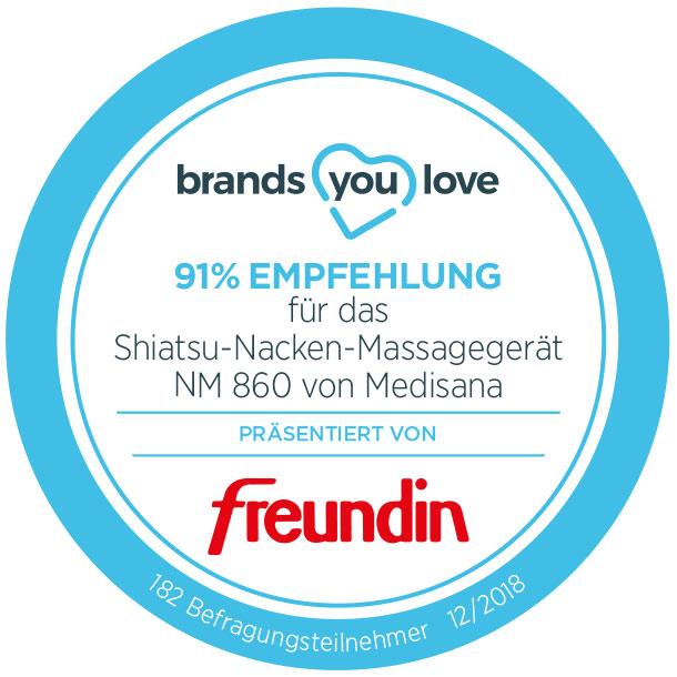 brands you love-Siegel für Medisana NM 860