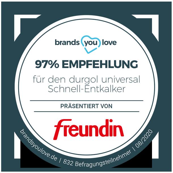 brands you love-Empfehlungssiegel