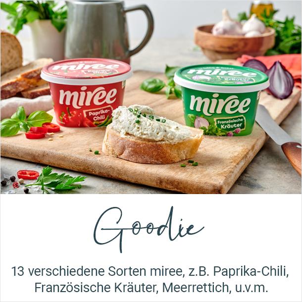 Goodie: 13 versciedene Sorten miree, z.B. Paprika-Chili, Französische Kräuter, Curry u.v.m.