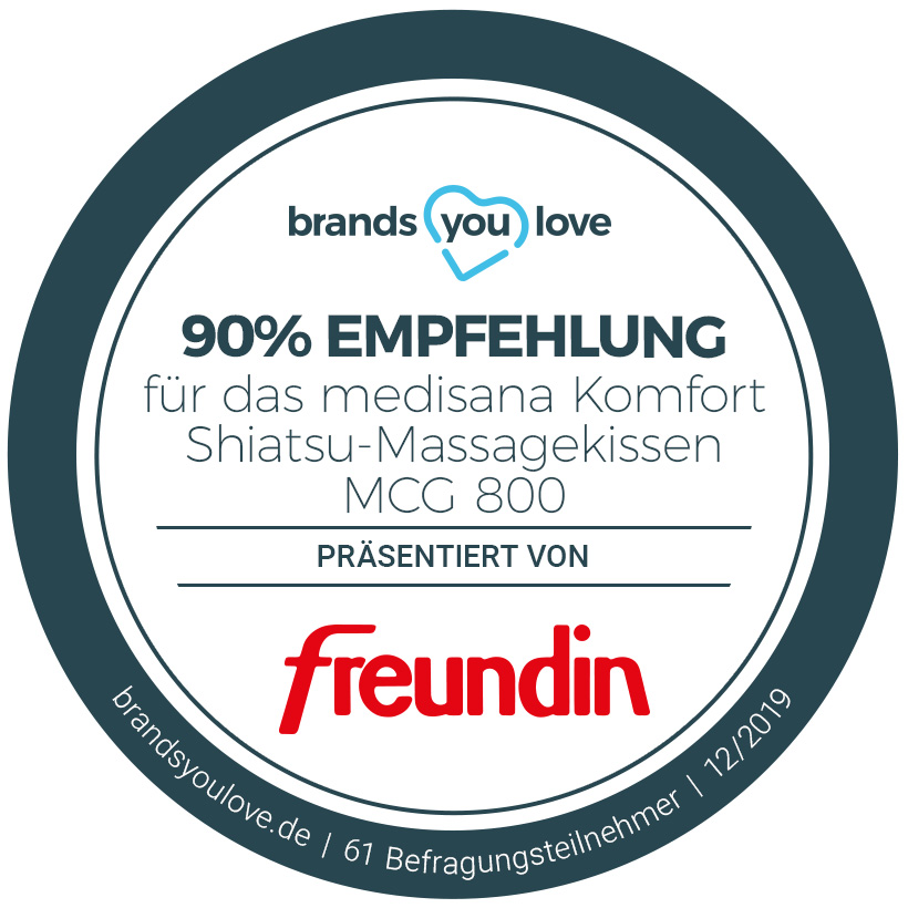 Siegel brands you love Massagekissen medisana