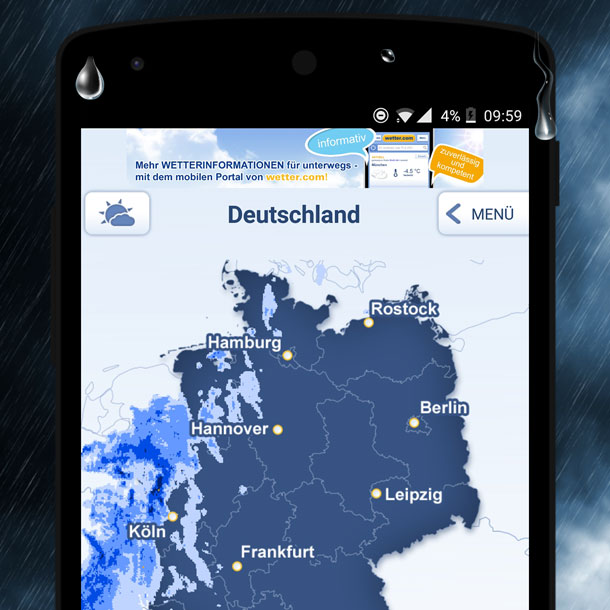 wetter.com Regenradar App