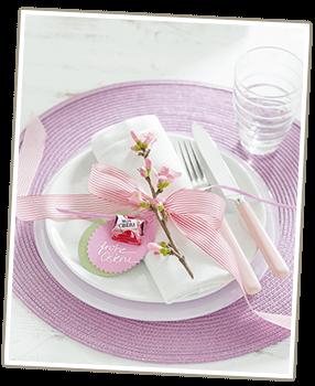 Bastelideen für Ostern mit Ferrero: Tischdeko mit Mon Chéri