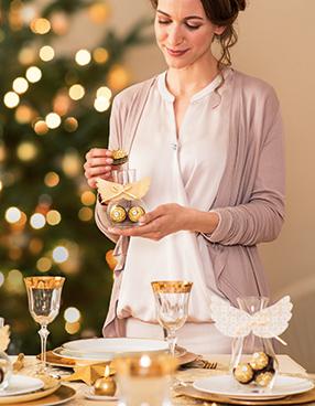 Tischdeko: Süßes Engelchen Ferrero Rocher