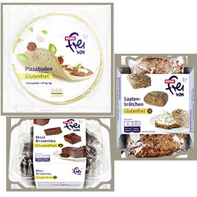 """glutenfreie """"REWE frei von""""-Produkte"""