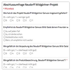 Neudorff Abschlussumfrage