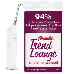 AirFloss Ultra mit freundin Trend Lounge-Siegel