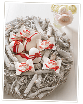 Osternest basteln mit Ferrero Raffaello
