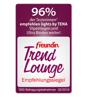 freundin Trend Lounge Siegel für lights by TENA