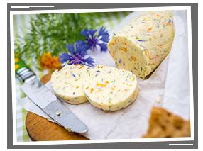 Wildgärtner Genuss Butter mit essbaren Blüten