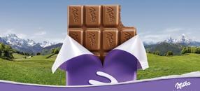 Im Herzen zart - die Milka Alpenmilch Schokolade