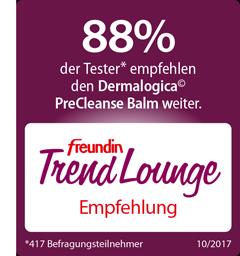 Das freundin Trend Lounge Siegel für den Dermalogica PreCleanse Balm