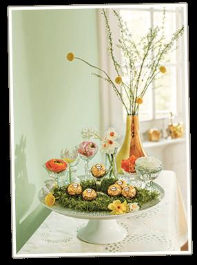 Osternest basteln mit Ferrero Rocher