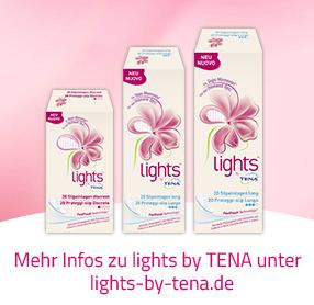 lights by TENA mehr Sicherheit bei sensibler Blase