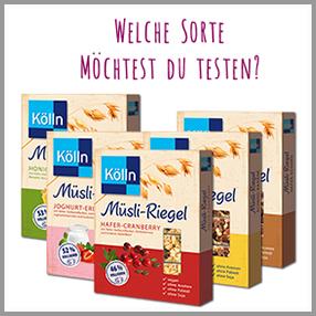 Der Kölln Müsli-Riegel Test der freundin Trend Lounge