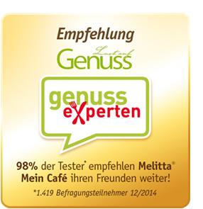 genuss-experten Empfehlung für Melitta® Mein Café