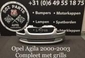 Opel Agila voorbumper met grills 2000 2001 2002 2003