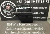 BMW 1 serie F20 Deur Portier Rechts Achter 2011-2019 Zwart