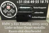 BMW 3 serie E91 Deur Portier Links Achter Zwart 2005-2013