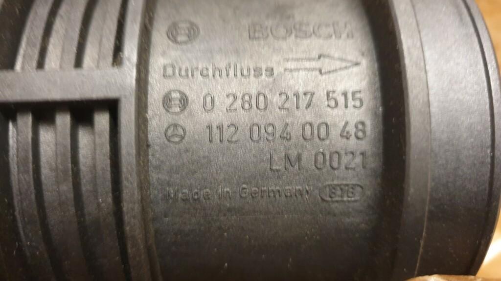 Afbeelding 3 van Mercedes W163 W211 W209 Luchtmassameter nieuw A1120940048