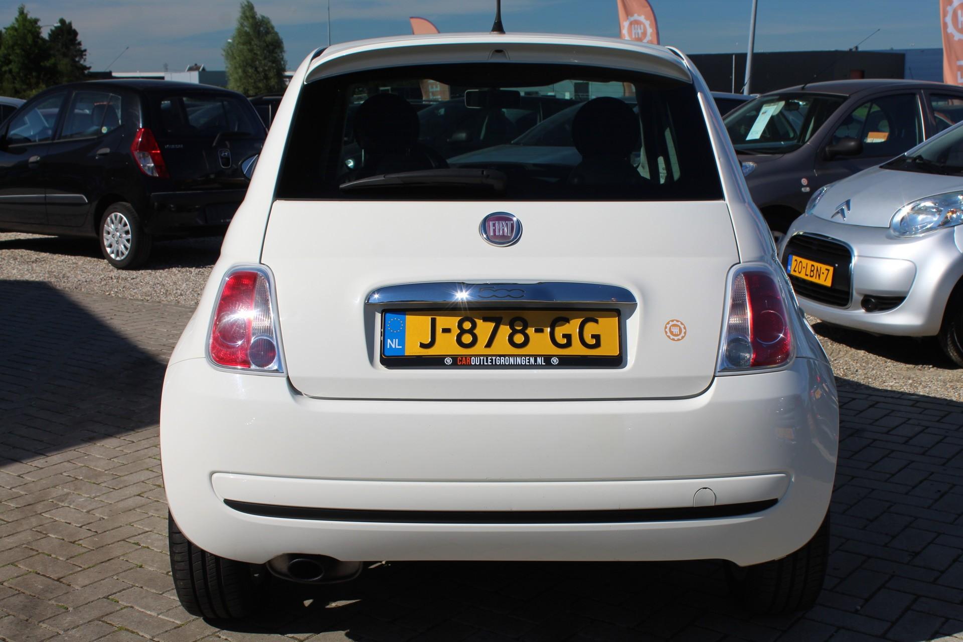 Caroutlet Groningen - Fiat 500 1.2 Lounge | AIRCO | VELGEN | LEER