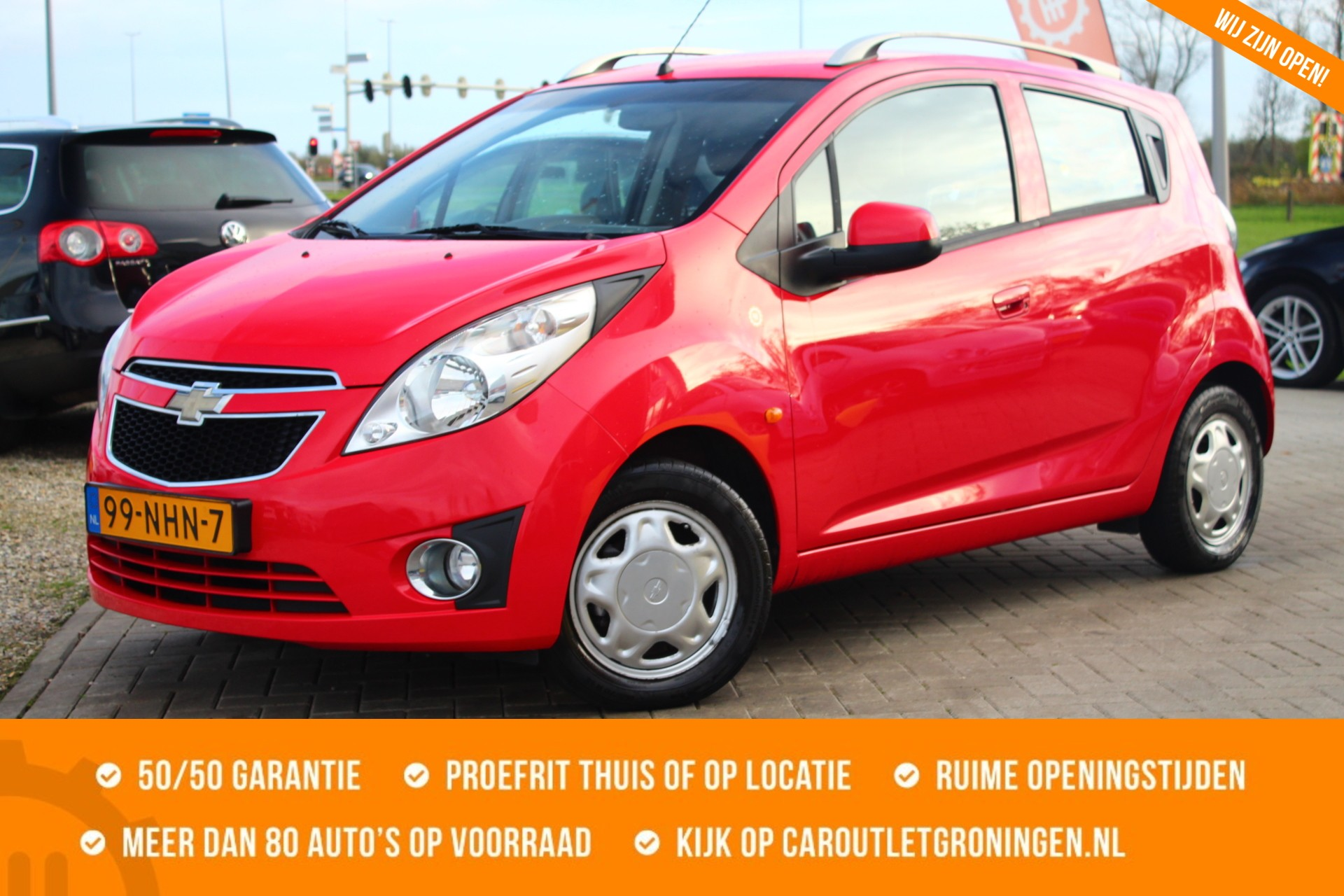 Caroutlet Groningen - Chevrolet Spark 1.0 16V LS Bi-Fuel | AIRCO | €96 p.m | 1e EIGENAAR