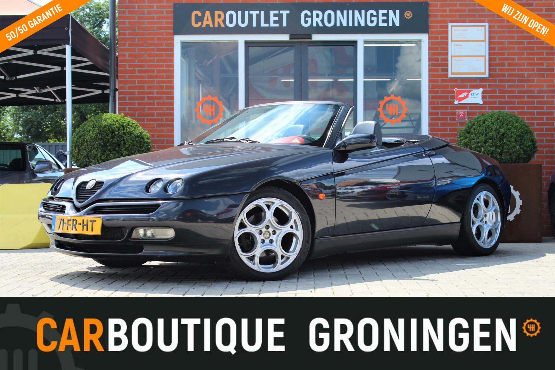Caroutlet Groningen - Alfa Romeo Spider 3.0-12V V6 L   LEER   AIRCO   GTA VELGEN