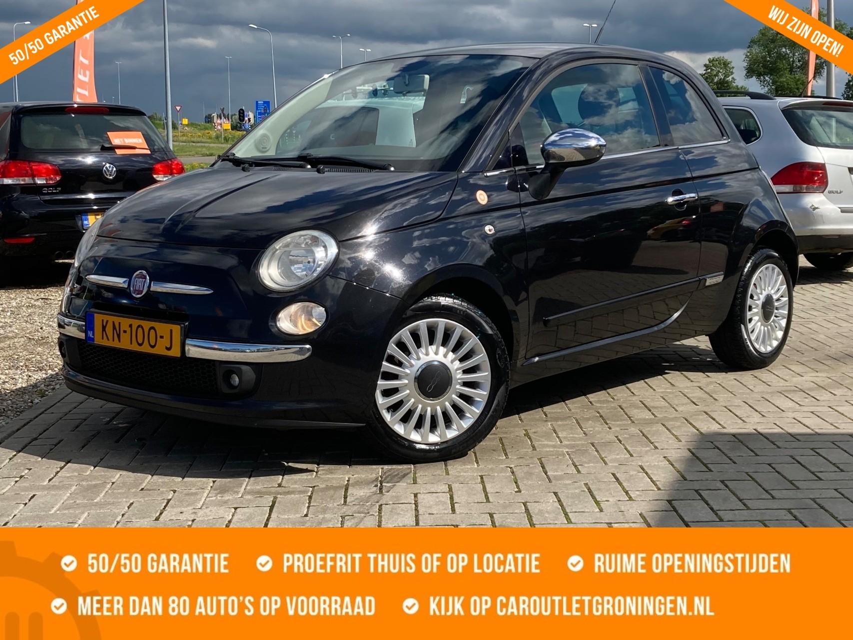Caroutlet Groningen - Fiat 500 1.2 Lounge   PANORAMADAK   LEER   LMV