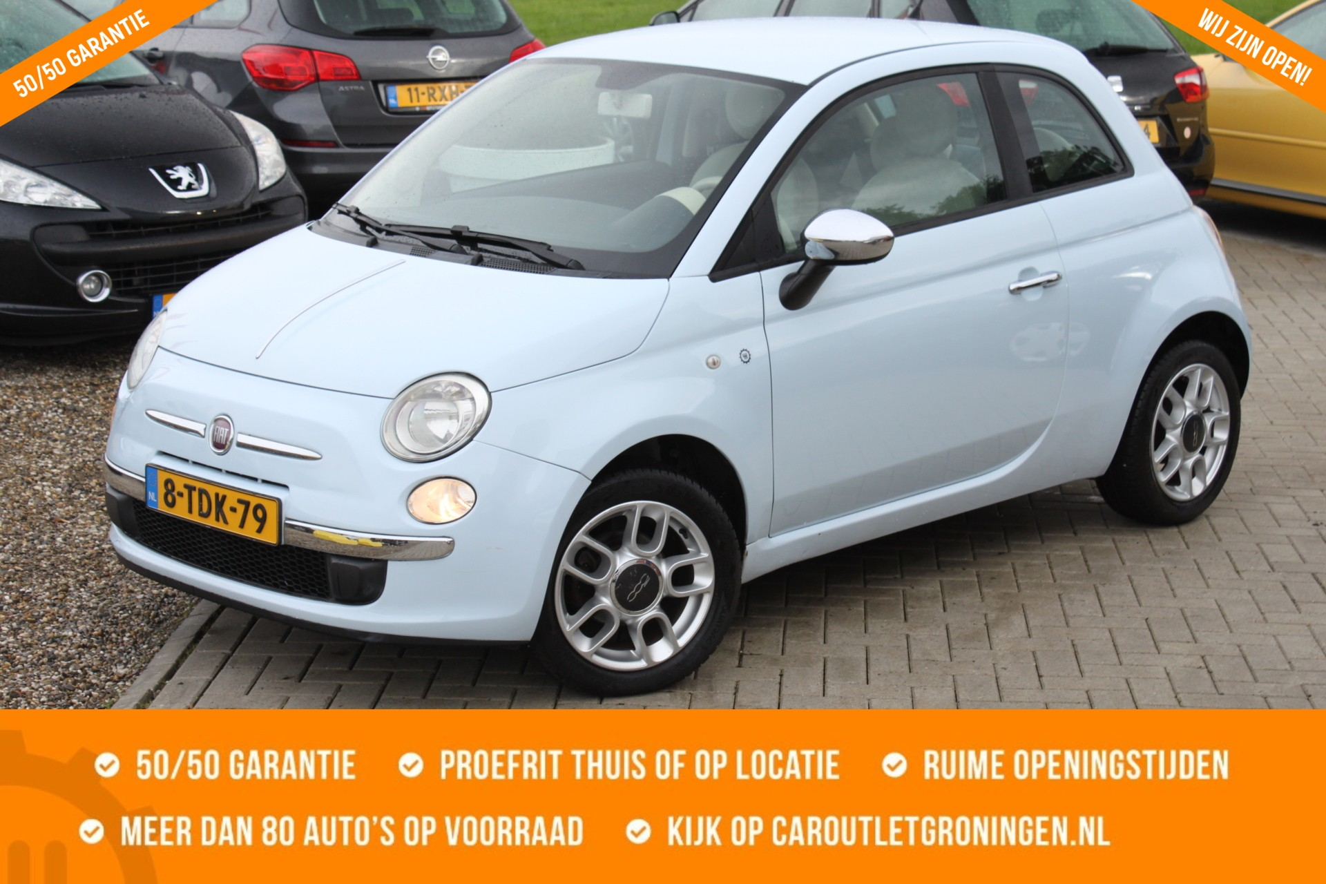 Caroutlet Groningen - Fiat 500 1.2 Pop | AIRCO | NW APK | CHROOM