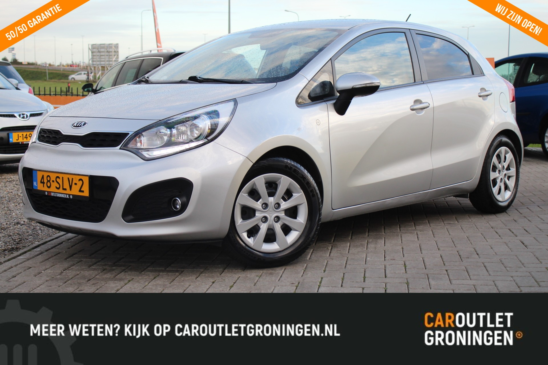 Caroutlet Groningen - Kia Rio 1.2 CVVT Plus Pack   LED   AFN TREKHAAK   GETINT GLAS  
