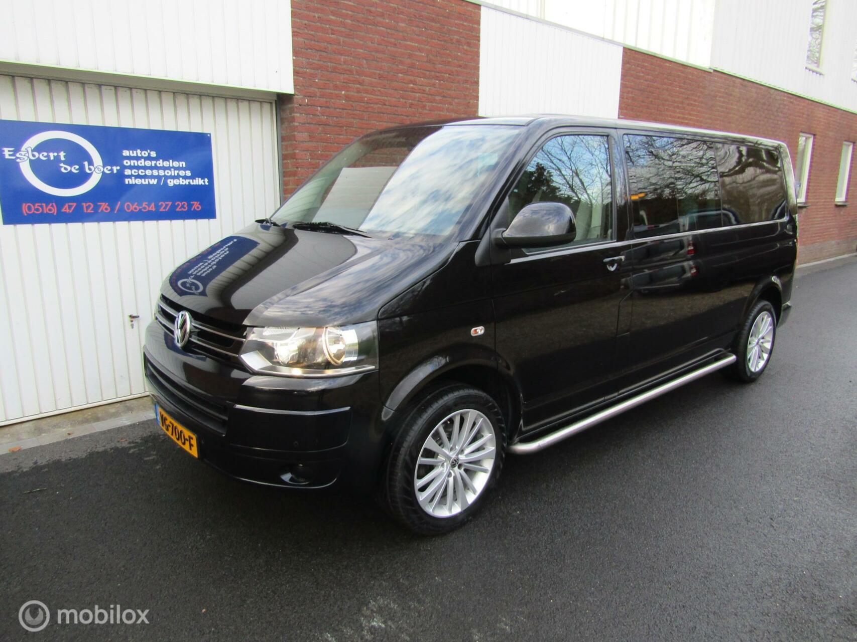 Volkswagen Transporter 2.0 TDI L2H1 DC caravelle zwart 175pk