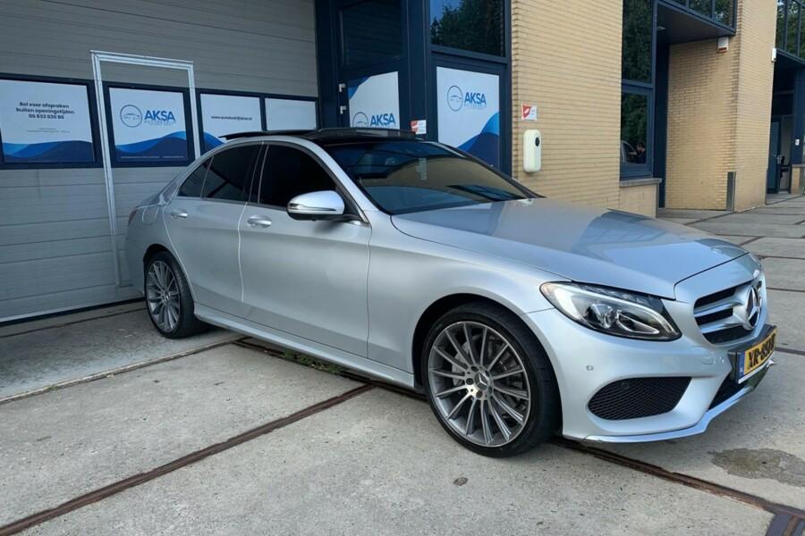 Mercedes-Benz C-klasse - 220 d | AMG | Burmester | Pano | 360camera | 19inch |Stoelventilatie