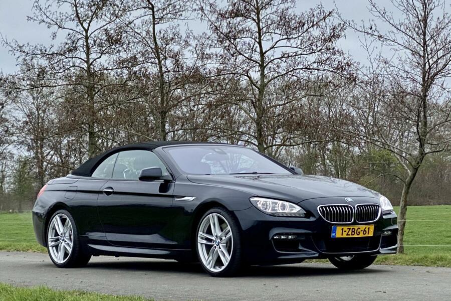 BMW 6-serie Cabrio 640i M-Sport Carbon zwart in topstaat!
