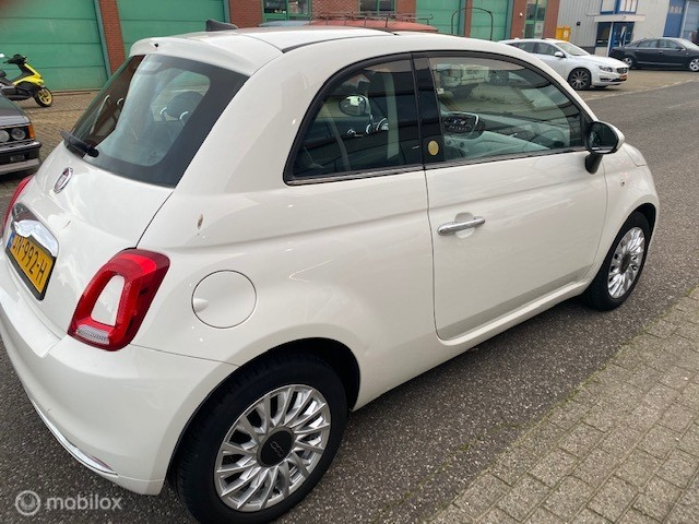 Fiat 500 0.9 TwinAir Turbo Lounge Navie + Leer + Panoramadak