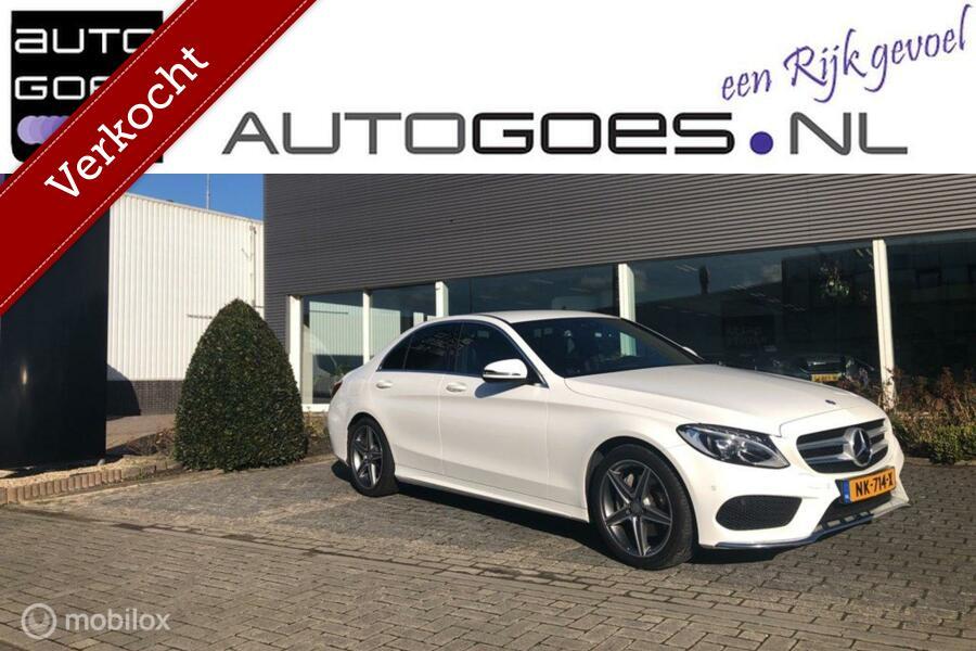 Mercedes-Benz C-klasse 200 AMG Aut. (Leder/Led/Navi Burmester)