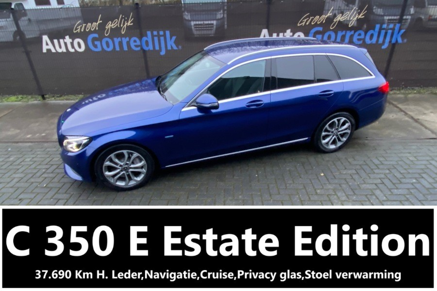 Mercedes C-klasse Estate 350 e Lease Edition 37.690 KM H Leder,Gr Navi